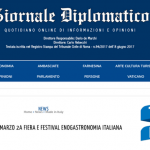 Giornale Diplomatico Features Taste of Italy 2021